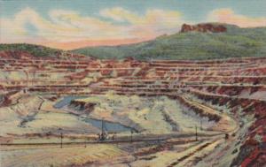 Open Pit Copper Mine Santa Rita Newe Mexico 1958 Curteich