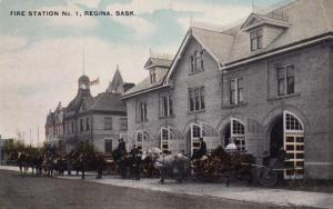 REGINA , Sask. , Canada , 1900-10s ; Fire Station #1
