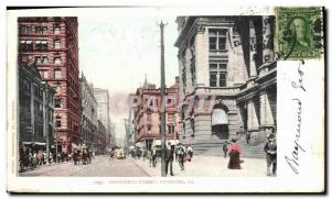 Postcard Old Smithfield Street Pittsburgh