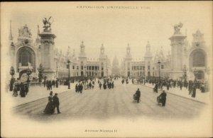1900 Paris Epox Universelle Avenue Nicholas II Postcard