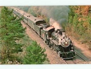 Vintage Postcard Train Loco Maine
