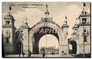 Old Postcard Exhibition Charleroi Main Facade