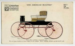 Columbus OH Vehicle American Horse Wagons Rare Postcard