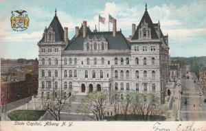 State Capitol Building at Albany NY, New York - DPO to DPO 1907 - UDB