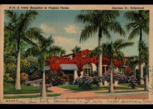 Hollywood FL Columbus OH Street Number Harrison ST Bungalow Vintage Postcard E01