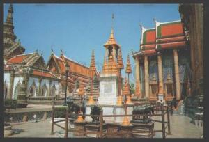 109153 THAILAND BANGKOK Throne with four posts Old postcard