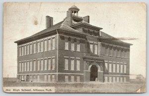 Alliance NE~High School~Belfry~Door to Basement~1912 Wm B Parker, Publisher