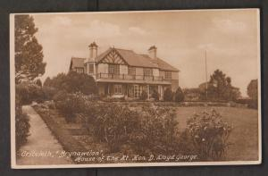 Brynawelon - Home Of Prime Minister George Criccieth, Wales - Unused