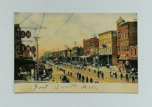 Fort Smith Arkansas Parade Postcard Marching Band Divided Back CE Wheelock Co