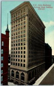 Chicago Postcard Corn Exchange National Bank Bldg Bird's-Eye View 1912 Cancel