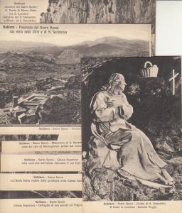 Lot 9 postcards Subiaco il Sacro Speco Shrine of the Sacred Cave of St. Benedict
