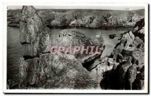 Old Postcard Ile d & # 39Yeu Rocks ker Daniau