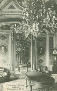 President's Room, Capitol, Washington D.C. 1916 used Post...