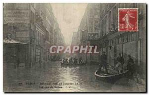 Old Postcard Paris Floods of January 1910 The view of the Seine