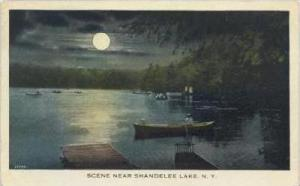 Man On Boat, Scene Near Shandelee Lake, New York, PU-1929