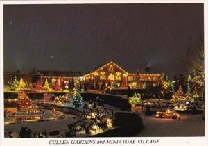 Canada Ontario Whitby Cullen Gardens and Miniature Village At Christmas
