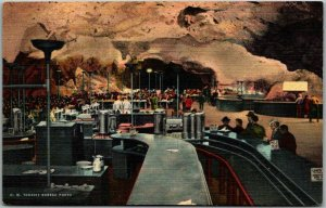 1940s Carlsbad Caverns National Park Postcard Underground Lunch Room View Linen