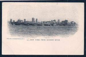 New York View From Hudson River New York NY Unused c1905