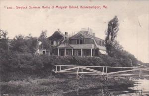 Maine Kennebunkport Greylock Summer Home Of Margaret Deland
