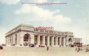 NEW PASSENGER STATION OF GREAT NORTHERN RAILROAD, MINNEAPOLIS, MN