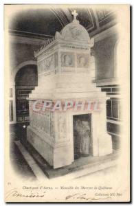 Old Postcard Chatreuse d & # 39Auray Mausoleum of Martyrs of Quiberon