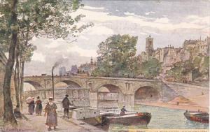 AS, Le Pont Marie, Bridge, Boats, Ile Saint-Louis, Paris, France, 1900-1910s