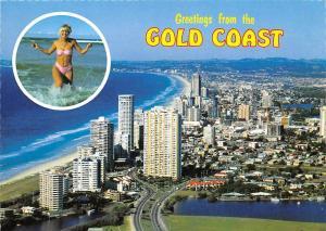 Australia Queensland, Surfers Paradise, Gold Coast Greetings, aerial view