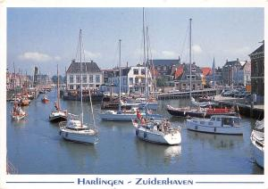 Netherlands Harlingen Zuiderhaven Harbour Boats Bateaux Port