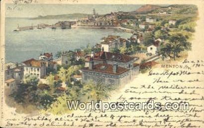 Menton, France, Carte, 1902