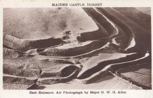 Maiden Castle East Entrance Dorset Military Leader Old Postcard