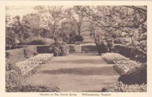 Virginia Williamsburg Garden Of The Travis House Albertype