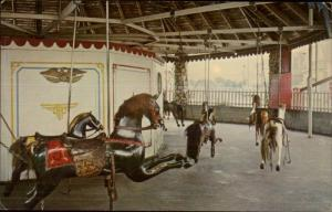 Westerly RI Flying Horse Carousel Merry-Go-Round Postcard