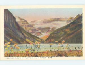 Unused 1940's VICTORIA GLACIER Banff National Park Alberta AB F3733