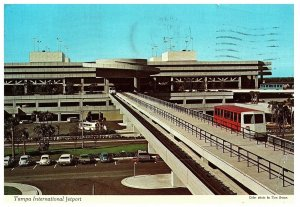 Vintage Posted Tampa International Jetport Terminal Florida Postcard 1976