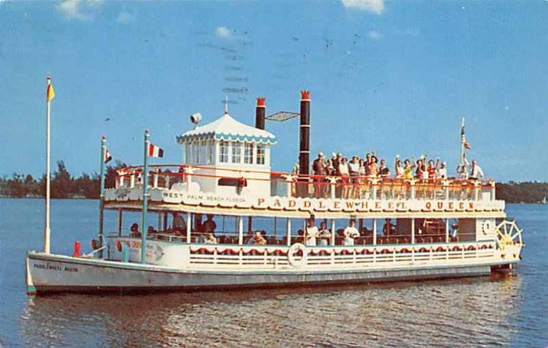 Paddlewheel Queen Ferry & Paddle Boats Ship 1961