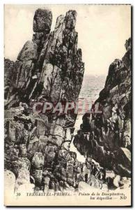 Old Postcard Primel Tregastel Point of Decapitation Needles