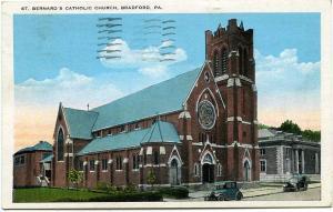 St Bernard's Catholic Church - Bradford PA, Pennsylvania - pm 1936 - WB
