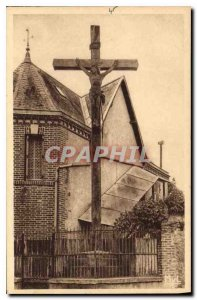 Postcard Old Magnac Laval Haute Vienne Mission Cross