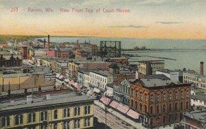 RACINE , Wisconsin , 1900-10s ; From top of Court-House