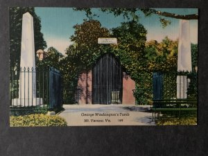 George Washington's Tomb Mount Vernon VA Linen Postcard H1295084137