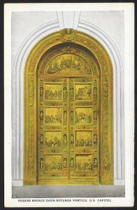 Rogers Bronze Door of Rotunda Portico US Capitol Washington DC Unused c1920s