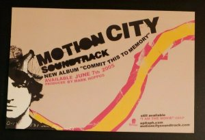 Vintage Music Postcard: Motion City Soundtrack- Commit This To Memory. 2005