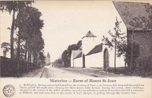 Belgium Waterloo Farm Of Mount Saint Jean