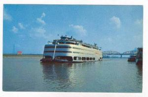 Streamlined River Steamship  S.S. ADMIRAL , Mississippi River, Saint Louis, M...
