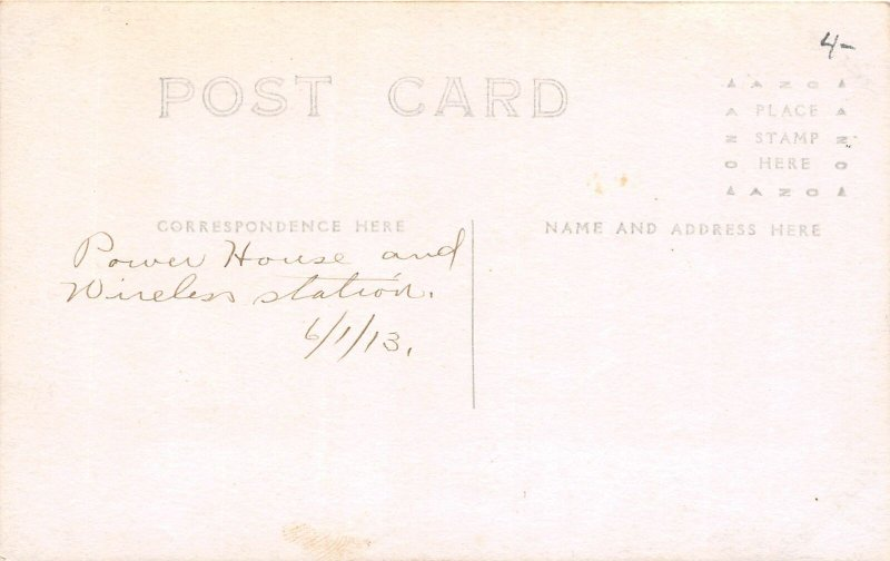 H78/ Washington D.C. RPPC Postcard c1910 Power House Wireless Station 170