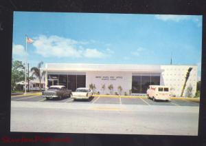 PALMETTO FLORIDA U.S. POST OFFICE VINTAGE CARS OLD POSTCARD