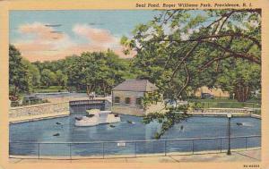 Rhode Island Providence Seal Pond Roger Williams Park 1953