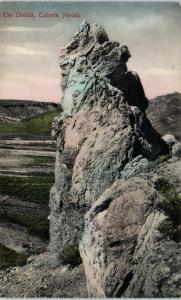 CALIENTE, NV Nevada    The OBELISK   c1907    Handcolored   Reider   Postcard