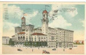 Jefferson Hotel, Franklin Street, Richmond, Virginia, PU-1918