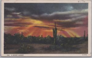A Desert Sunset - 1936